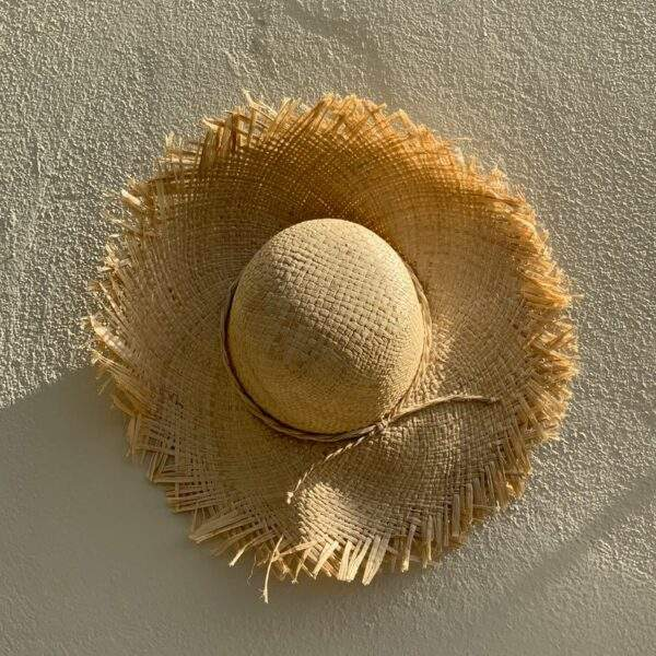 French hat, frayed straw hat