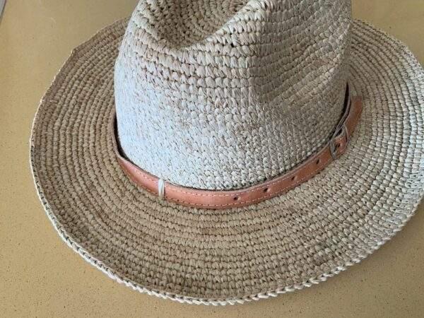 Raffia Straw Panama Hat,