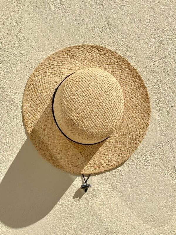 French raffia straw hat