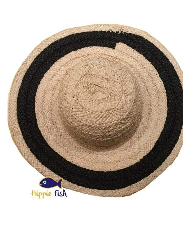Medium Brim Straw Hat With Black Band