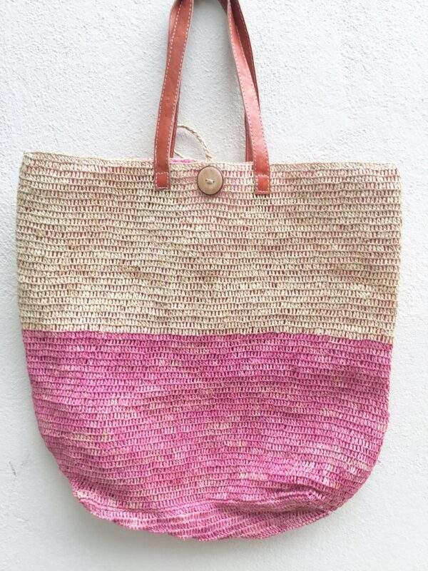 Raffia Crocheted Beach Bag & Towel