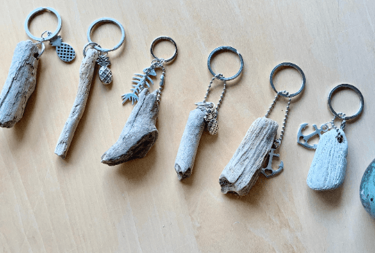 Small Driftwood Keyring Charm
