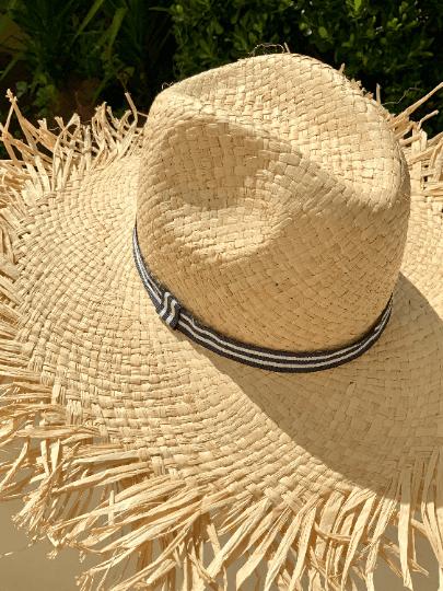 Unisex Panama Beach Hat with Fringe