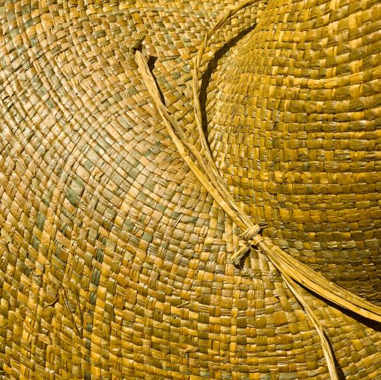 Olive Raffia Straw Hat