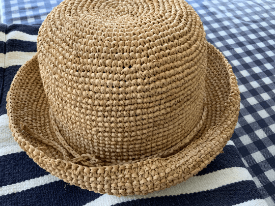 Children's Crochet Raffia Hat