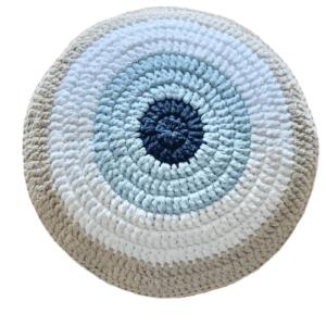 Round Greek Evil Eye Pillow