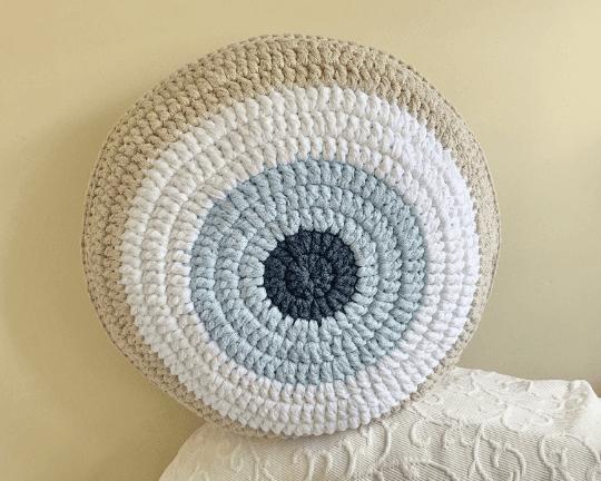 Round Evil Eye Cushion