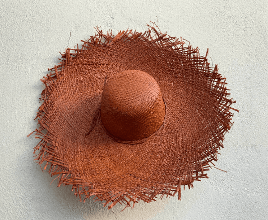 Terracotta Straw Hat