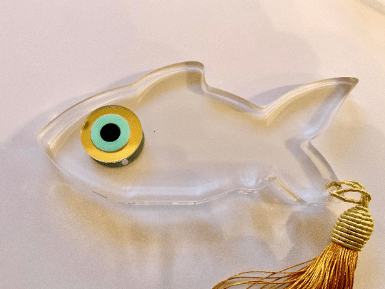 Plexi Glass Evil Eye Fish Gift