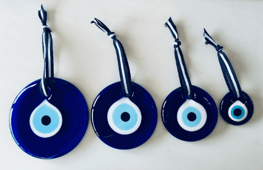 3' Blue Glass Evil Eye