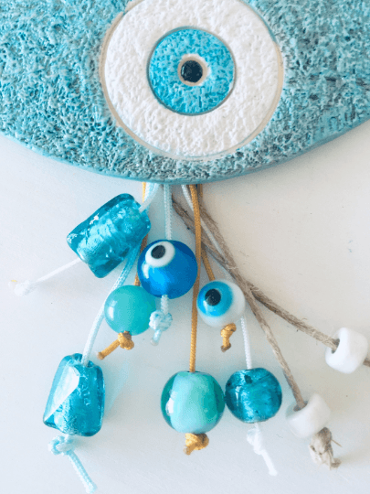 Ceramic Evil Eye Ornament