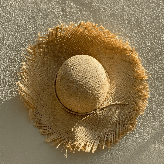 French Straw Market Hat