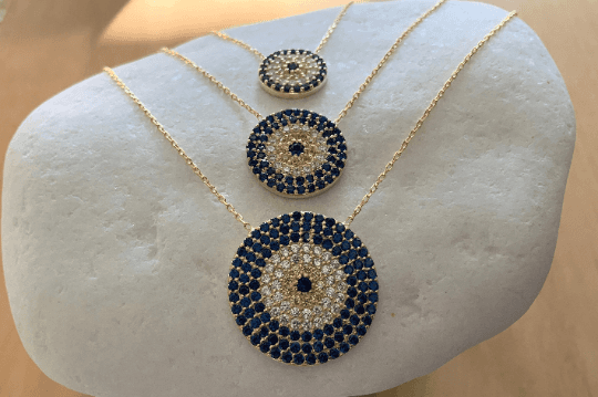 Gold Eye Pendant Necklace