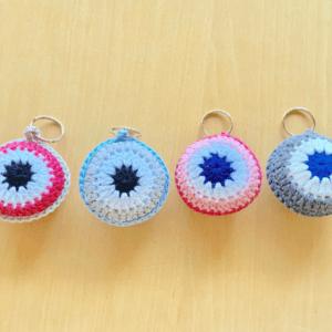 Crochet Eye Keyrings