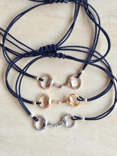 Equestrian Horse Bit Macrame Bracelet