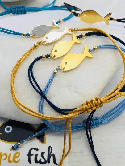 Hippie Fish charm bracelet
