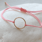 Gold Circle of Life Friendship Bracelet