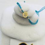 Gold Paw Print Macrame Bracelet