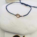 Rose Gold Paw Print Macrame Bracelet
