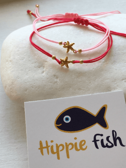 Gold Starfish Macrame Bracelet