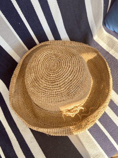 Crochet Raffia Classic French Hat