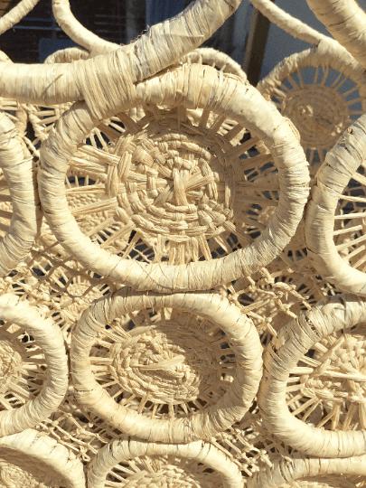 Straw Macrame Basket