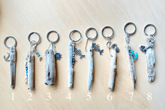 Driftwood Key Chain and Charm