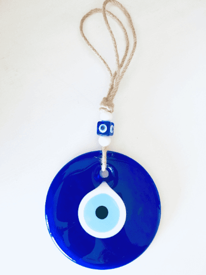 Large Blue Glass Evil Eye Charm