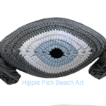 Evil Eye Cushion Dark Grey