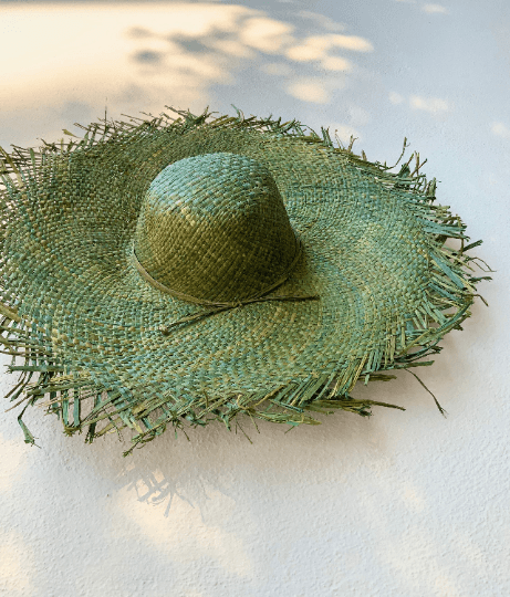 Fresh Green Raffia Hat