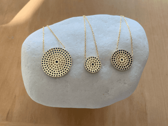Gold Eye Pendant Necklace