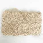 Natural Crochet Raffia Clutch Bag