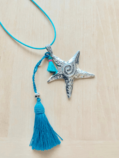 Starfish Charm Long Necklace