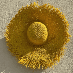 Yellow Raffia Hat