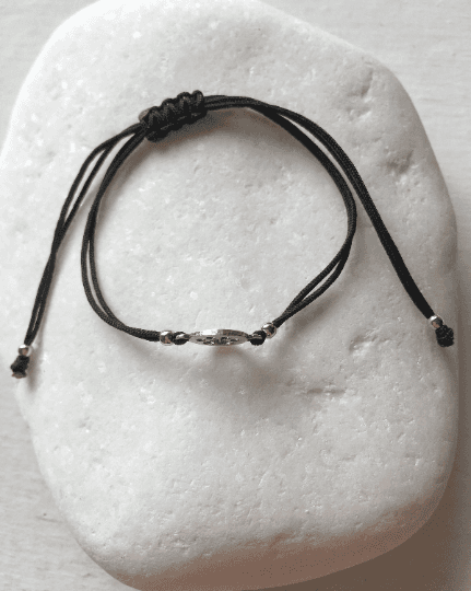 Paw Print Macrame Bracelet