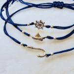 nautical charms macrame bracelet