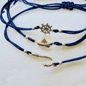 nautical charms macrame bracelet
