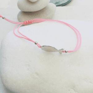 Hippie Fish Charm Macrame Bracelet