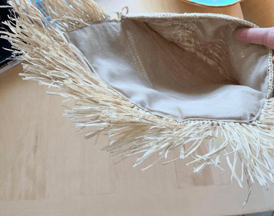 Crochet Straw Clutch Bag