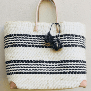 Nautical Striped Beach Tote Bag