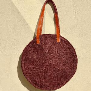 Round Straw Tote Bag