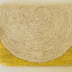 Raffia Clutch Bag Yellow
