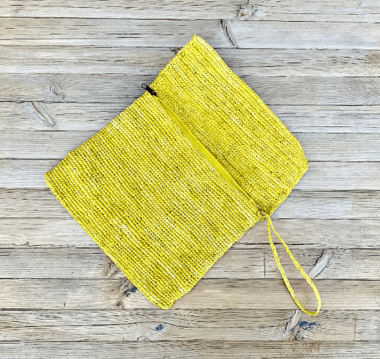 Raffia Wallet Yellow