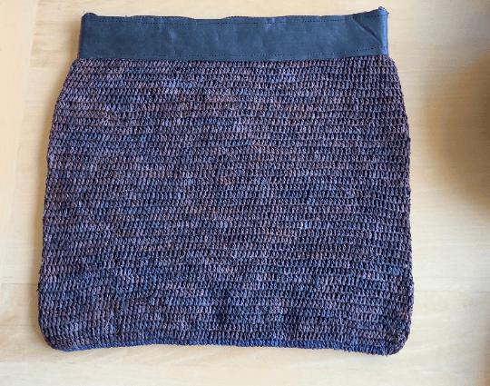 Raffia Crochet Zip & Fold Clutch Bag