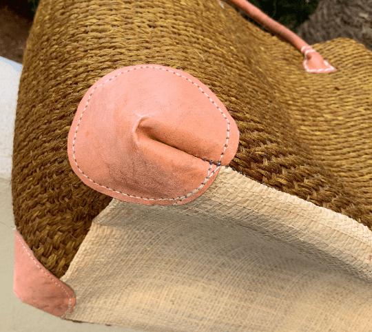 Bronze Straw Tote Bag