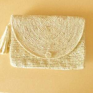 Raffia Clutch Bag Natural