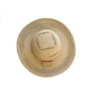 Women's Straw Hat with Embroidery Decoration