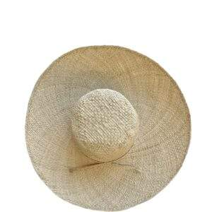 French Raffia Straw Sun Hat Medium Brim