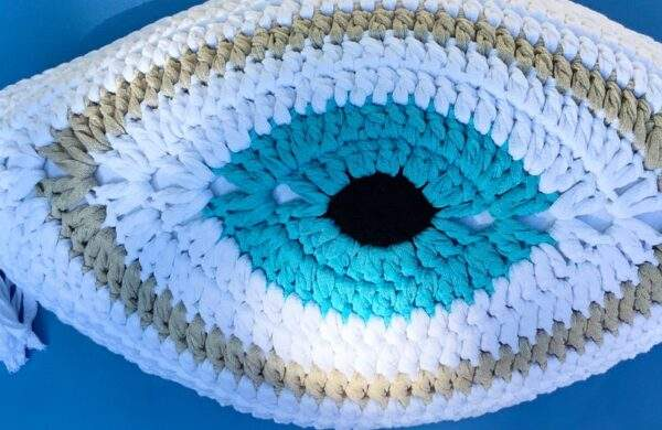 Crochet Eye Cushion Greek Gods Design