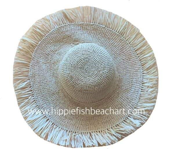 Crochet and Raffia Frill Straw Hat